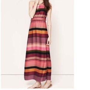 LOFT striped maxi dress